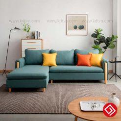 Sofa nỉ góc L phòng khách nhỏ KD033