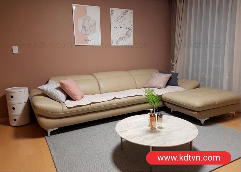 Sofa văng da kiểu dáng hàn quốc