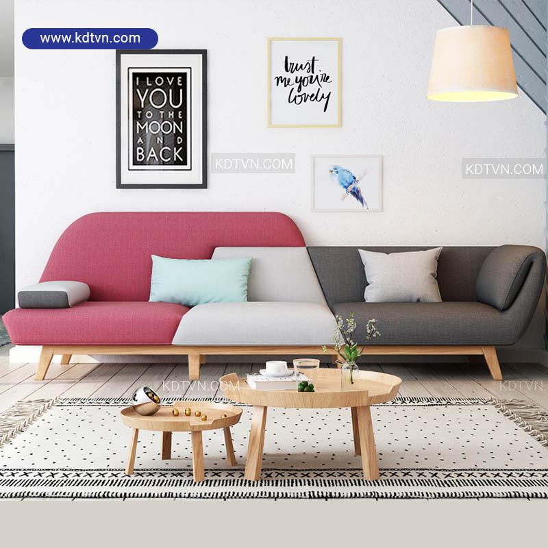 Sofa văng nỉ đẹp hiện đại