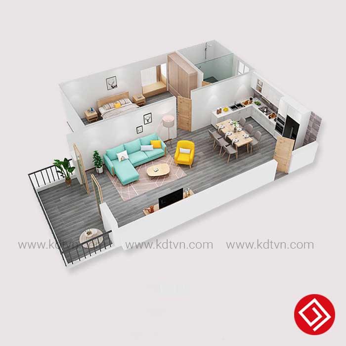 Bài trí sofa trong căn hộ