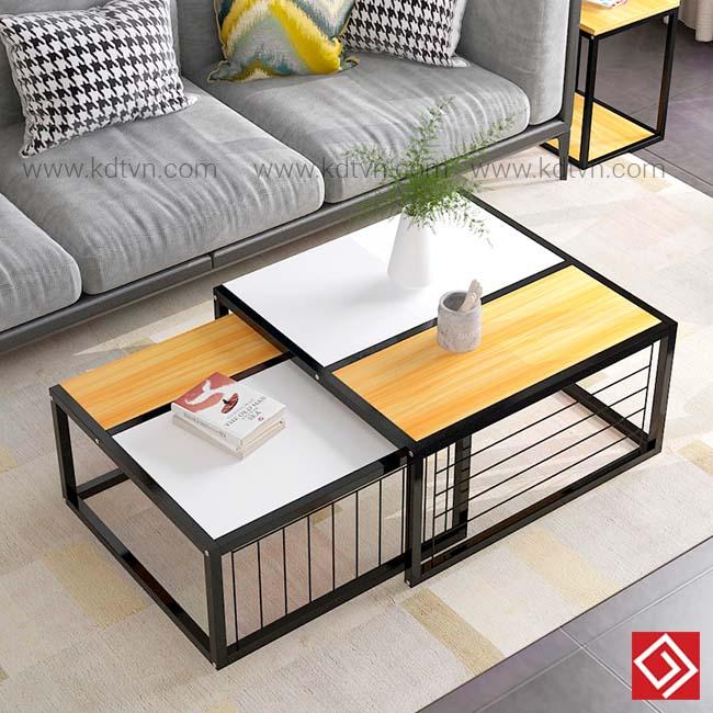 Bàn sofa vuông đôi B25