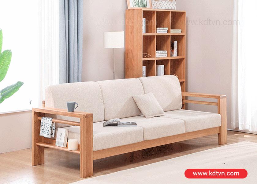 sofa văng gỗ 3 chỗ ngồi