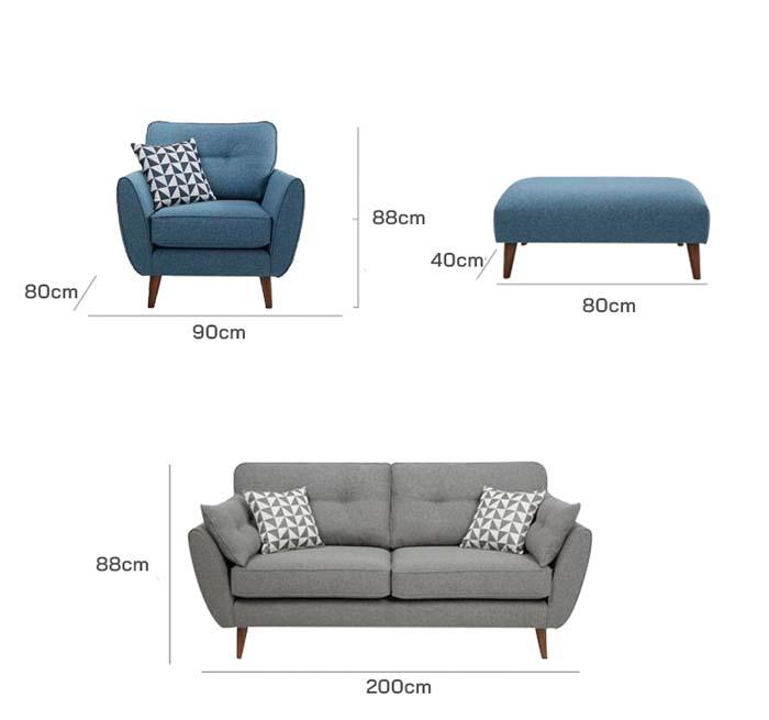 Kích thước sofa văng nỉ