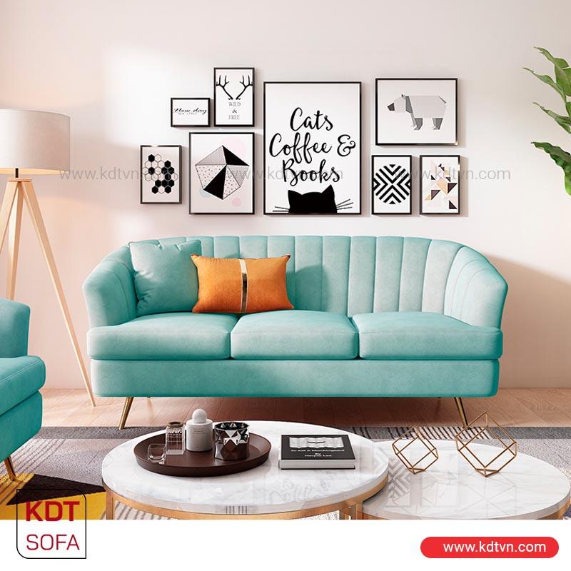 mẫu sofa nỉ nhung cho phòng khách nhỏ