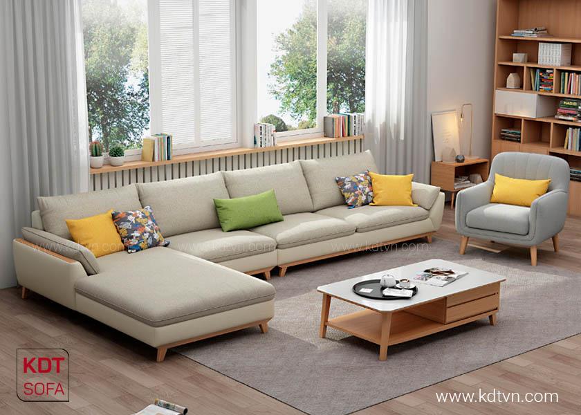 Mẫu sofa cho nhà rộng hiện đại KD182