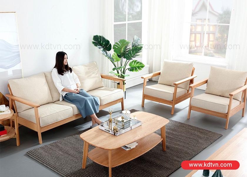 Không gian phòng khách hiện đại với ghế sofa đơn