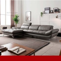 sofa da phòng khách đẹp kd199