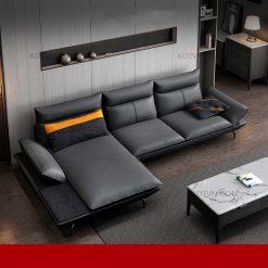 sofa da phòng khách kd250