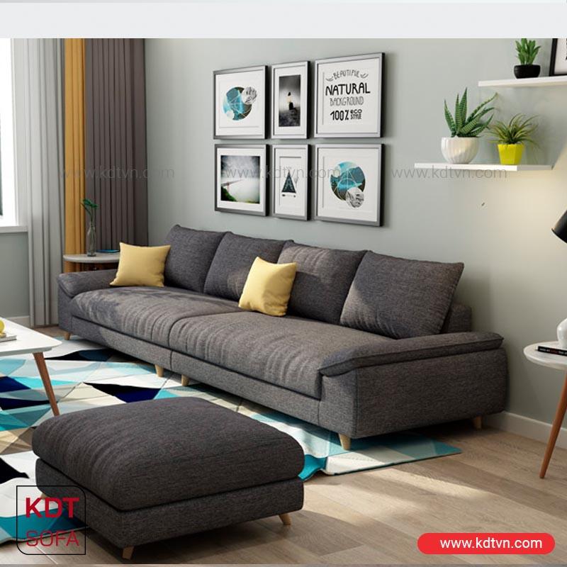 sofa nỉ đẹp cho phòng khách nhỏ