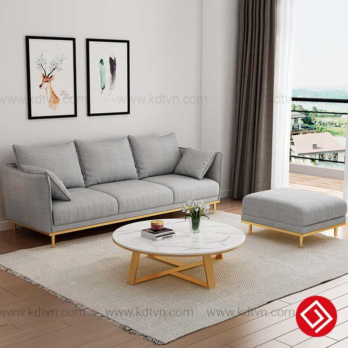 Sofa nỉ cho không gian đẹp hiện đại KD088