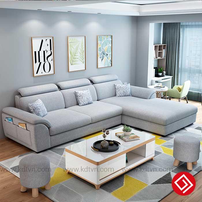 Sofa nỉ cho phòng khách nhỏ KD181B
