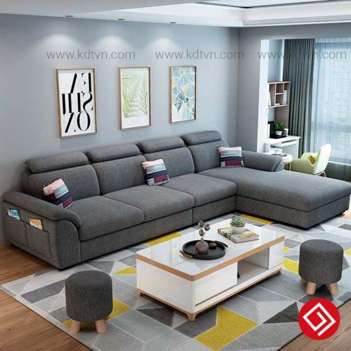 Sofa nỉ phòng khách rộng