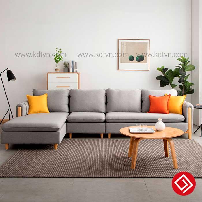 Sofa nỉ phòng khách rộng KD033