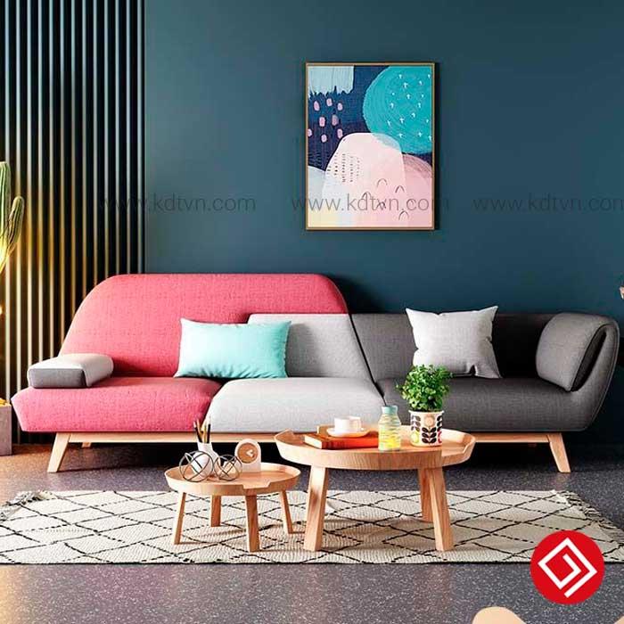 Sofa văng nỉ phòng khách hiện đại KD045