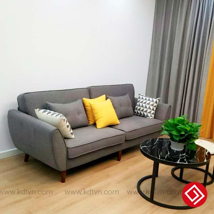 Sofa văng nỉ phòng khách nhỏ