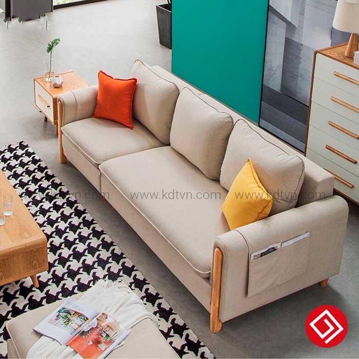 Sofa nỉ góc L phòng khách nhỏ KD033A