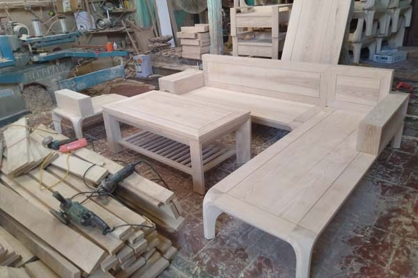 Phần mộc thô bộ sofa gỗ