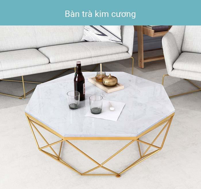 Bàn trà, bàn sofa kim cương