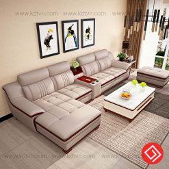 Sofa da góc L hiện đại