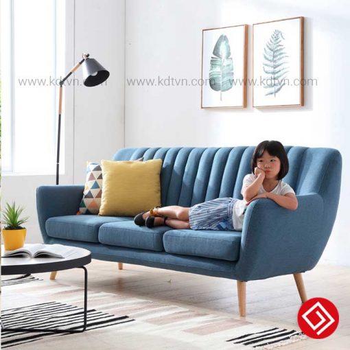 Sofa văng nỉ chân cao