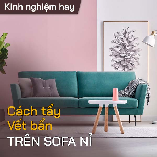 Tẩy vết bẩn trên sofa nỉ 1