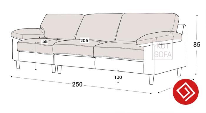 Kích thước sofa KD140