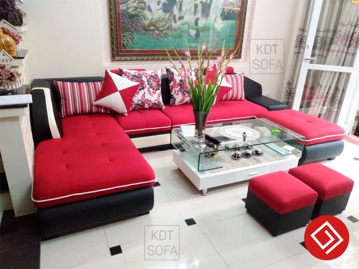 Kích thước mẫu sofa góc KDT SOFA