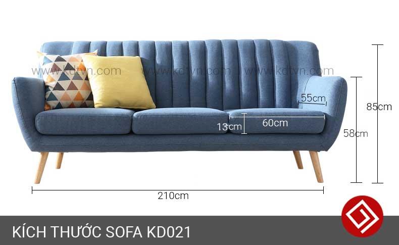 Kích thước sofa 3 chỗ ngồi