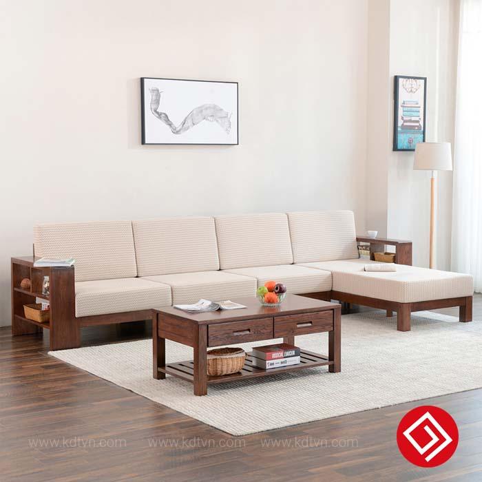 Sofa gỗ góc L đẹp hiện đại KD510