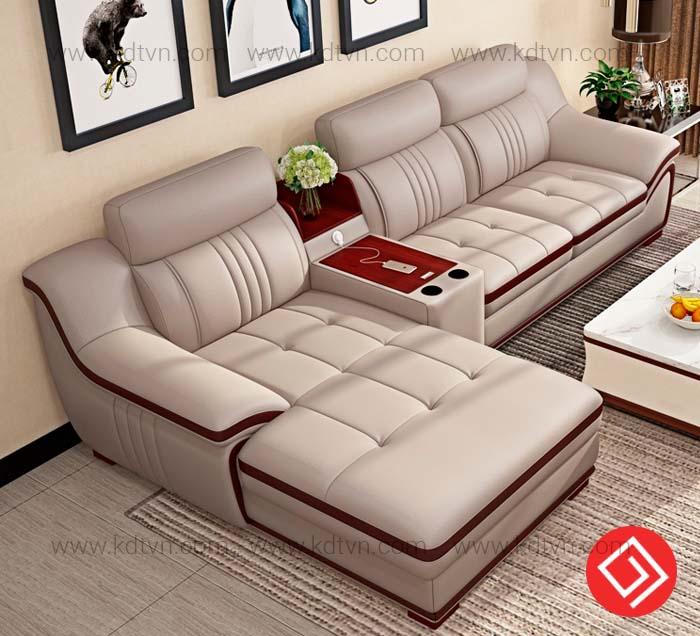 Sofa da góc L giá rẻ