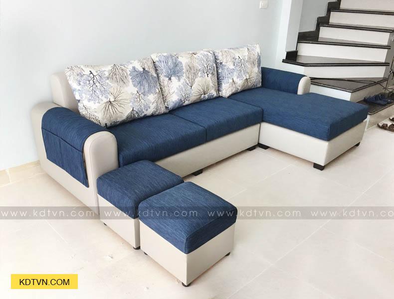 Sofa góc L nhà dọc