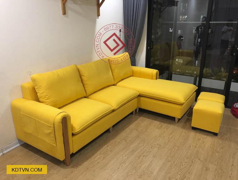 Sofa phòng khách màu vàng