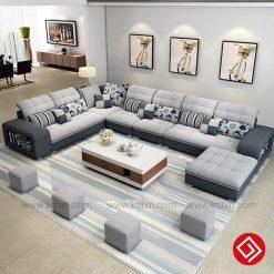 Sofa nỉ cho phòng khách rộng