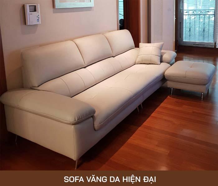 Sofa văng da hiện đại