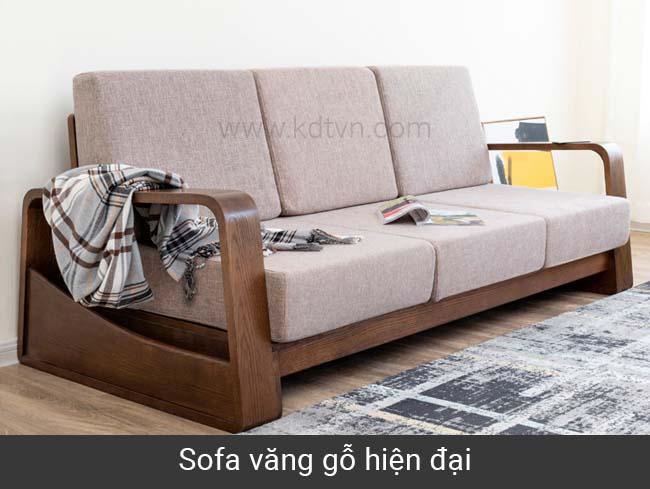 Sofa văng gỗ hiện đại