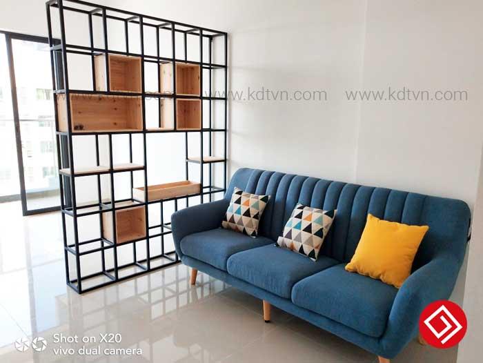 Sofa văng nỉ 3 chỗ ngồi KD021