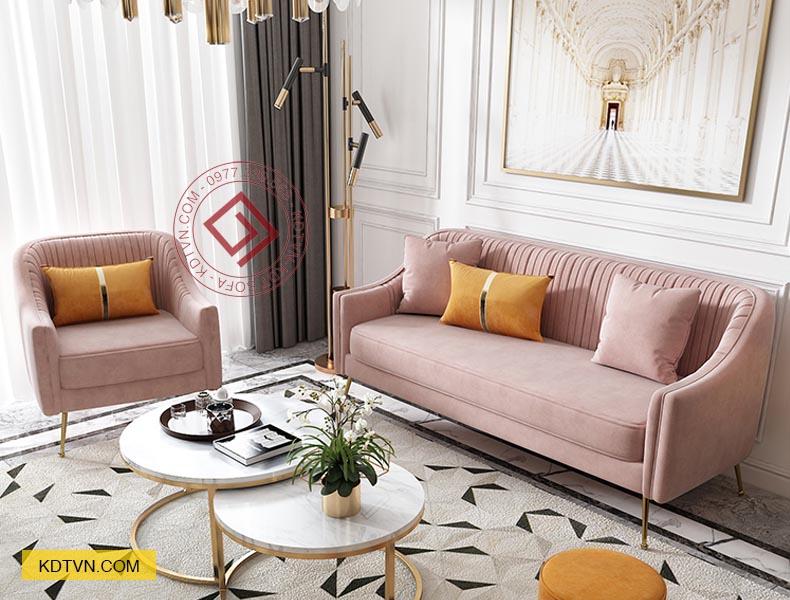 Sofa văng nỉ nhung đẹp hiện đại