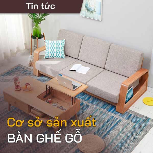 Cơ sở sản xuất bàn ghế gỗ