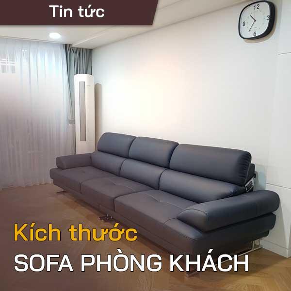 kích thước sofa phòng khách
