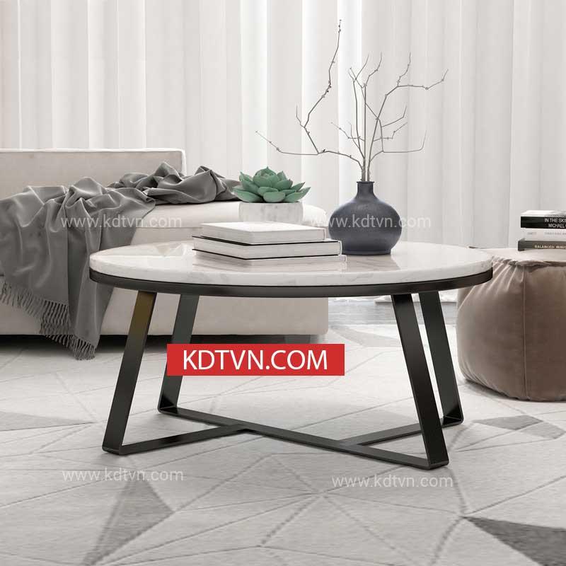 Mẫu bàn trà tròn mặt đá