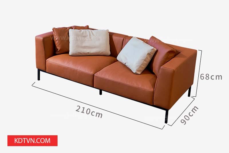 Kích thước sofa văng dài bọc da