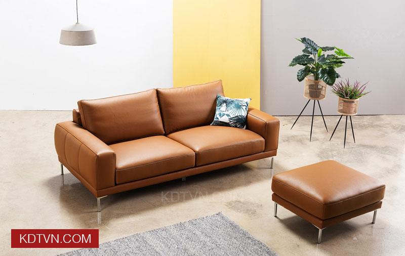 Bo ghe sofa vang da 2 cho KD115