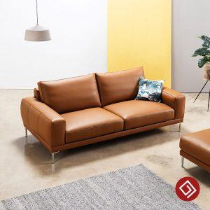 Bo sofa vang da 2 cho KD115