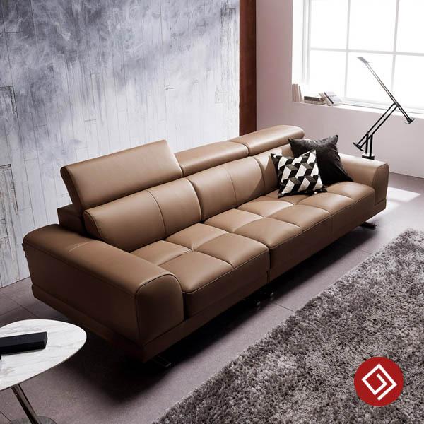 Sofa băng bọc da 3 chỗ ngồi KD125