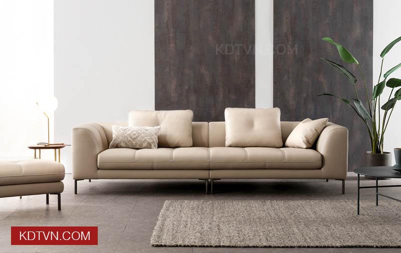 Sofa da văng 3 chỗ ngồi KD121