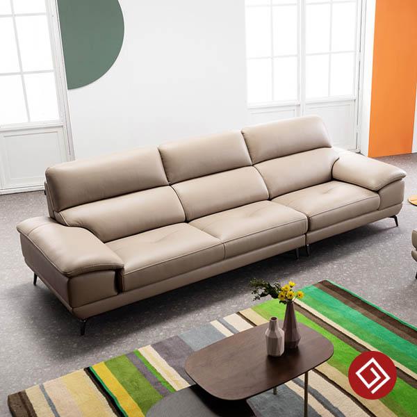 Sofa vang da 3 cho ngoi KD234 kdtvn