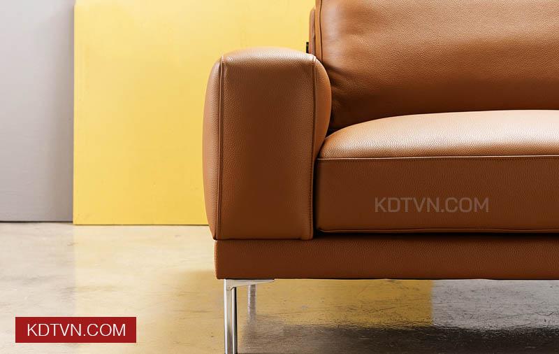 Tay sofa văng da 2 chỗ ngồi KD115