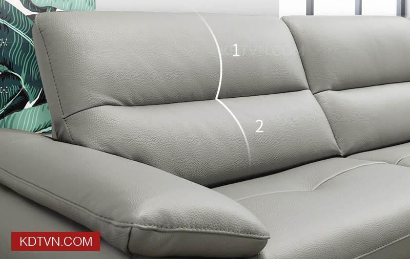 Sofa văng da 3 chỗ ngồi KD127