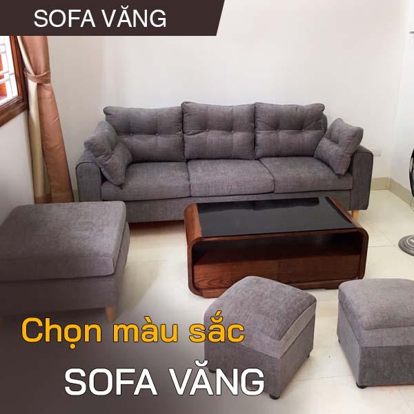 chon mau sac sofa vang