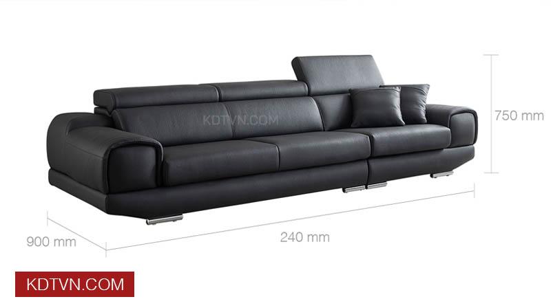 Kích thước văng sofa da KD120